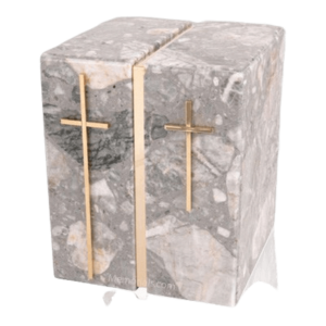 Cremation urns are often available in serveral sizes, ranging from small to an urn for two people.