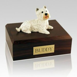 A pet can be beautifully memorialized with a cremation ash vessel
